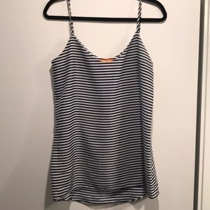 Joe fresh Navy white striped camisole